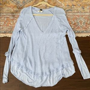 Free people thermal xs blue